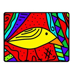 Yellow Bird Double Sided Fleece Blanket (small)  by Valentinaart