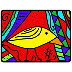 Yellow Bird Double Sided Fleece Blanket (large)