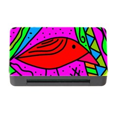 Red Bird Memory Card Reader With Cf by Valentinaart