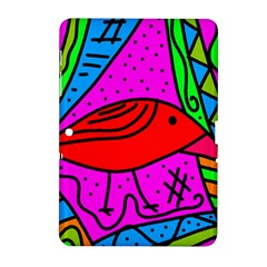 Red Bird Samsung Galaxy Tab 2 (10 1 ) P5100 Hardshell Case  by Valentinaart