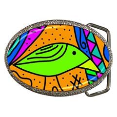 Green Bird Belt Buckles