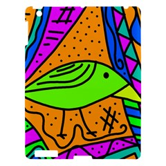 Green Bird Apple Ipad 3/4 Hardshell Case by Valentinaart