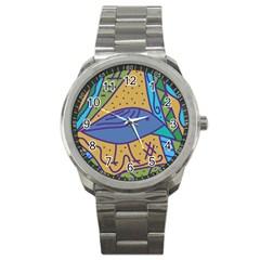 Blue Bird Sport Metal Watch by Valentinaart