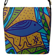Blue Bird Flap Messenger Bag (s) by Valentinaart