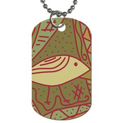 Brown Bird Dog Tag (two Sides) by Valentinaart