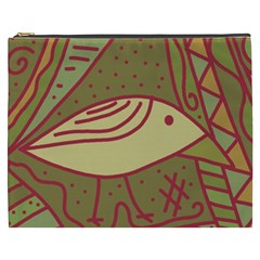 Brown bird Cosmetic Bag (XXXL)  by Valentinaart