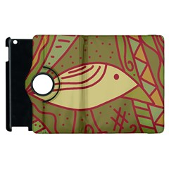 Brown Bird Apple Ipad 2 Flip 360 Case by Valentinaart