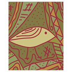 Brown Bird Drawstring Bag (small) by Valentinaart