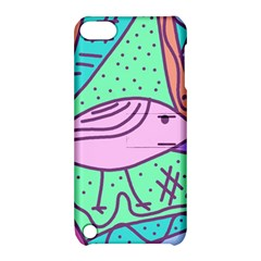 Pink Pastel Bird Apple Ipod Touch 5 Hardshell Case With Stand by Valentinaart