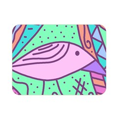 Pink Pastel Bird Double Sided Flano Blanket (mini)  by Valentinaart