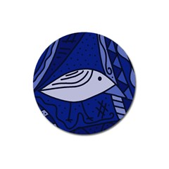 Blue Bird Magnet 3  (round) by Valentinaart