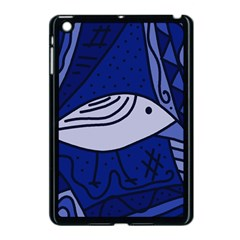 Blue Bird Apple Ipad Mini Case (black) by Valentinaart