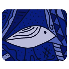 Blue Bird Double Sided Flano Blanket (medium)  by Valentinaart