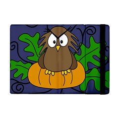 Halloween Owl And Pumpkin Apple Ipad Mini Flip Case by Valentinaart