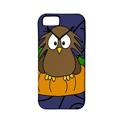Halloween owl and pumpkin Apple iPhone 5 Classic Hardshell Case (PC+Silicone)