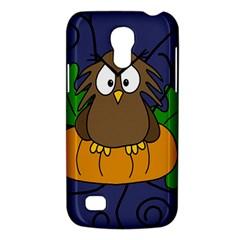 Halloween Owl And Pumpkin Galaxy S4 Mini by Valentinaart