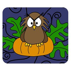 Halloween owl and pumpkin Double Sided Flano Blanket (Small)  by Valentinaart