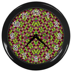 Tishrei King Four I Wall Clocks (black) by MRTACPANS
