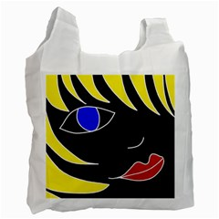 Blond Girl Recycle Bag (two Side)  by Valentinaart