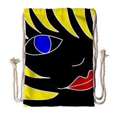 Blond Girl Drawstring Bag (large) by Valentinaart