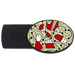 Playful Abstraction Usb Flash Drive Oval (4 Gb)  by Valentinaart