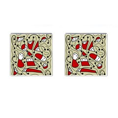 Playful Abstraction Cufflinks (square) by Valentinaart