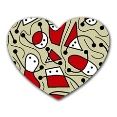 Playful Abstraction Heart Mousepads by Valentinaart