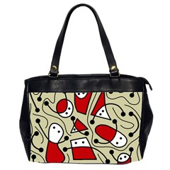 Playful Abstraction Office Handbags (2 Sides)  by Valentinaart