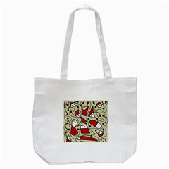 Playful Abstraction Tote Bag (white) by Valentinaart