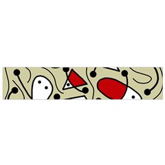Playful Abstraction Flano Scarf (small) by Valentinaart