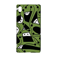 Playful Abstract Art   Green Sony Xperia Z3+ by Valentinaart