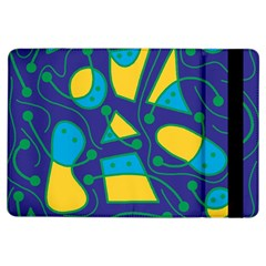 Playful Abstract Art   Blue And Yellow Ipad Air Flip by Valentinaart