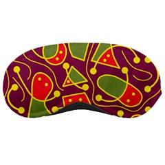 Playful Decorative Abstract Art Sleeping Masks by Valentinaart