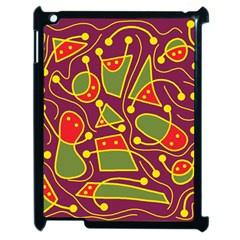 Playful Decorative Abstract Art Apple Ipad 2 Case (black) by Valentinaart