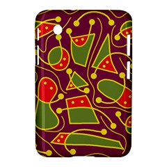Playful Decorative Abstract Art Samsung Galaxy Tab 2 (7 ) P3100 Hardshell Case  by Valentinaart