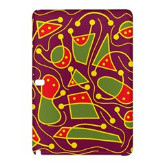 Playful Decorative Abstract Art Samsung Galaxy Tab Pro 12 2 Hardshell Case by Valentinaart