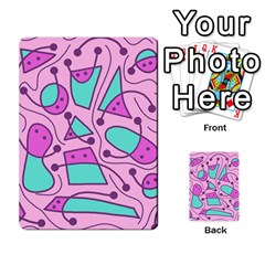 Playful Abstract Art   Pink Multi Purpose Cards (rectangle)  by Valentinaart