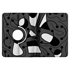 Playful Abstract Art   Gray Kindle Fire Hdx Flip 360 Case by Valentinaart