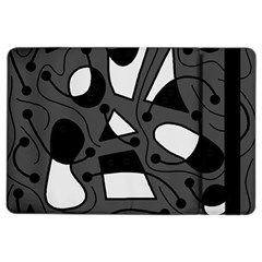 Playful Abstract Art   Gray Ipad Air 2 Flip by Valentinaart