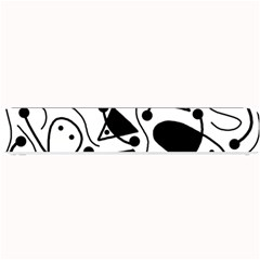 Playful Abstract Art   White And Black Small Bar Mats by Valentinaart