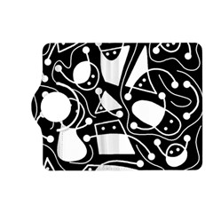 Playful Abstract Art   Black And White Kindle Fire Hd (2013) Flip 360 Case by Valentinaart
