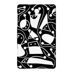 Playful Abstract Art   Black And White Samsung Galaxy Tab S (8 4 ) Hardshell Case  by Valentinaart