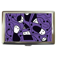Playful Abstract Art   Purple Cigarette Money Cases by Valentinaart