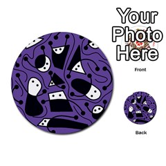Playful Abstract Art   Purple Multi Purpose Cards (round)  by Valentinaart