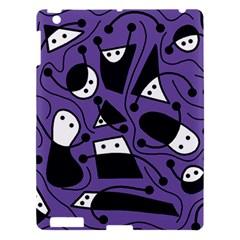 Playful Abstract Art   Purple Apple Ipad 3/4 Hardshell Case by Valentinaart