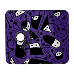 Playful Abstract Art   Purple Samsung Galaxy S  Iii Flip 360 Case by Valentinaart