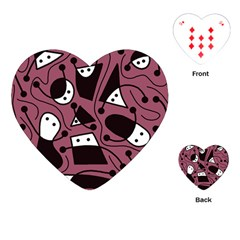 Playful Abstraction Playing Cards (heart)  by Valentinaart