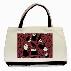 Playful Abstraction Basic Tote Bag (two Sides) by Valentinaart