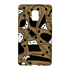 Playful Abstract Art   Brown Galaxy Note Edge by Valentinaart
