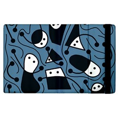 Playful Abstract Art   Blue Apple Ipad 2 Flip Case by Valentinaart